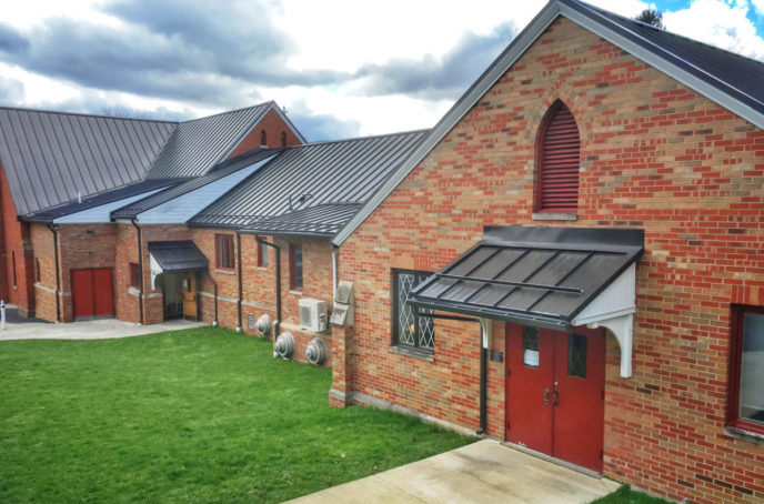 Lutheran Church standing seam metal roof replacement