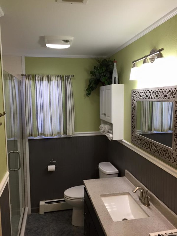 Bathroom Quick Makeover quick bathroom makeover - zehr building llc
